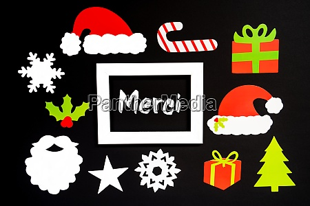 frame christmas decoration accessories merci means