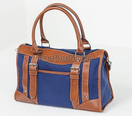 modern brown and blue handbay