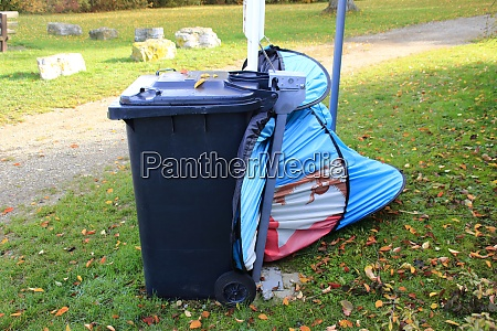 garbage was illegally dumped in a