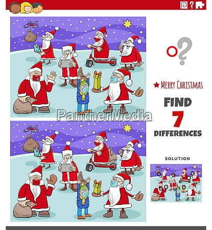 differences educational game for children with