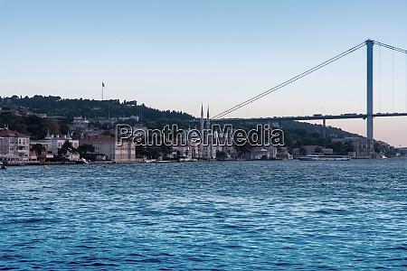 istanbul scene and bosphorus bridge