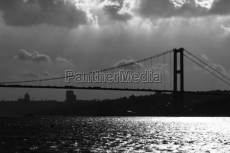bosphorus bridge silhouette