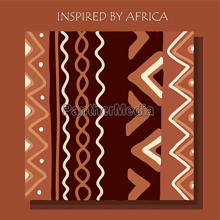 african background flyer with grunge tribal