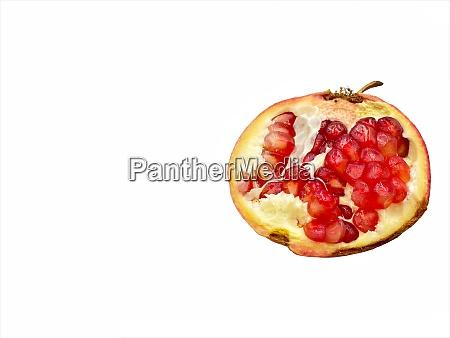 pomegranate fruits isolate on white background