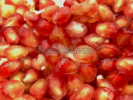 pomegranate fruits closeup with selective focus