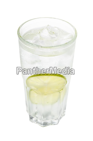 gin tonic cocktail in glass with