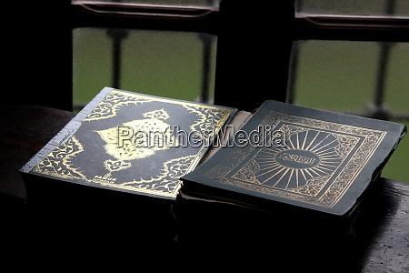 holy book of koran aladza painted