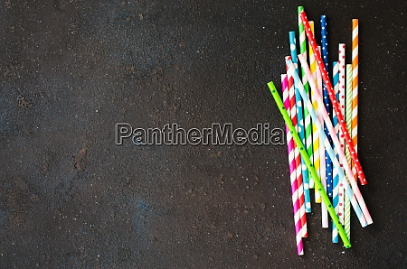 colorful paper straws of different colors