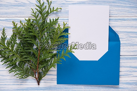 empty christmas card envelope with template