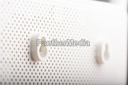 modern white wireless internet router backside