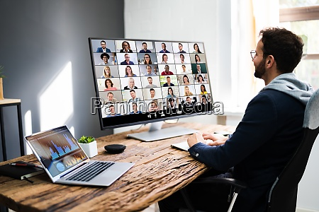 video conference business webinar call