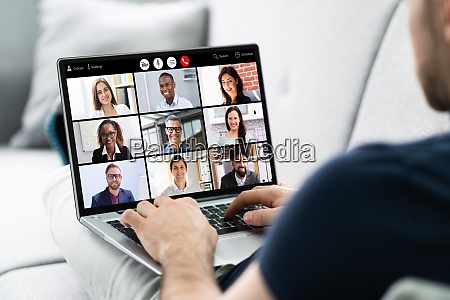 virtual online video conference webinar call
