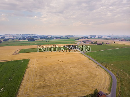 aerial view on celles region close