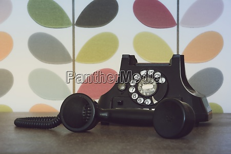 old retro and vintage phone off