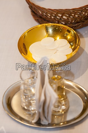 christian worship at the wedding ceremony