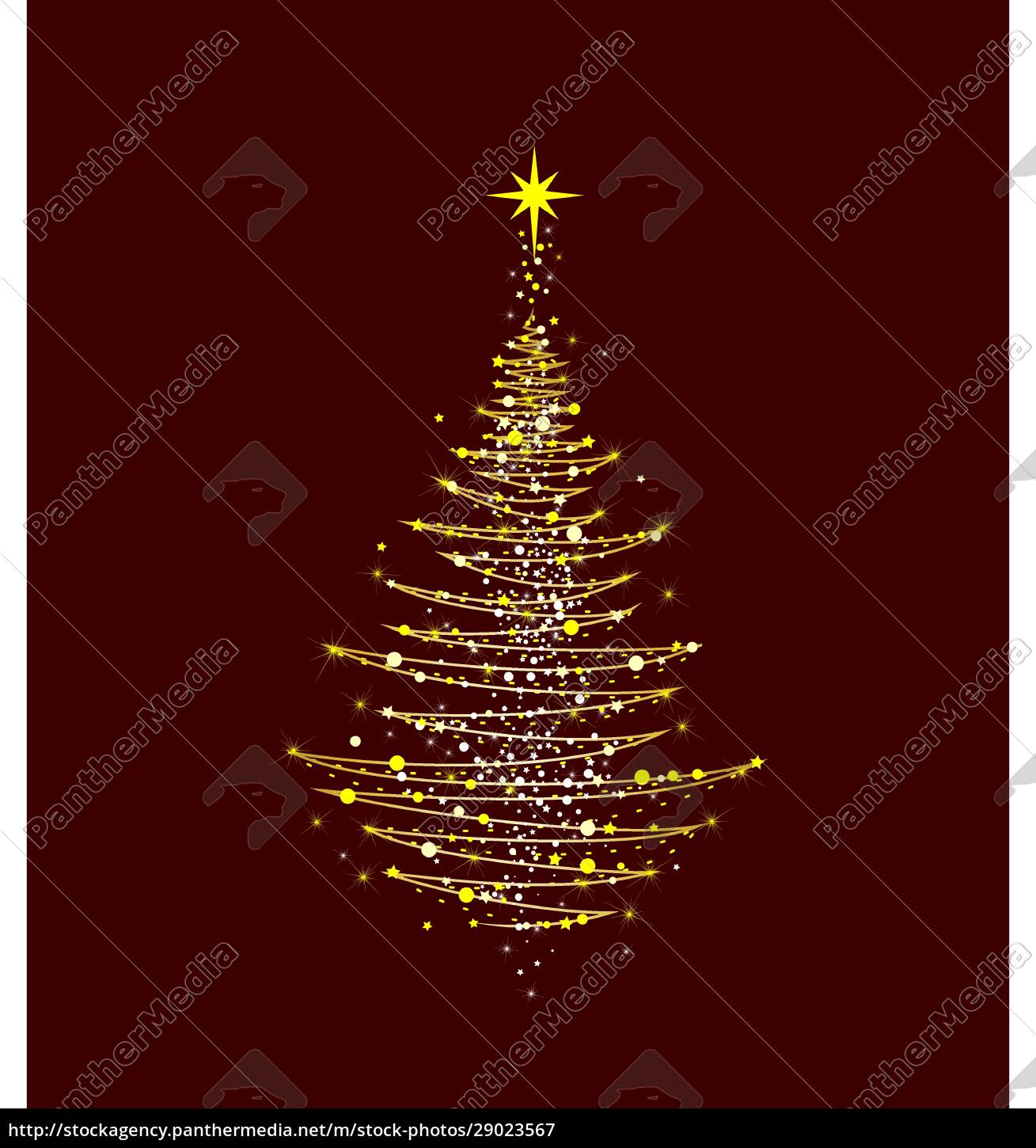 christmas, tree, shining, golden - 29023567