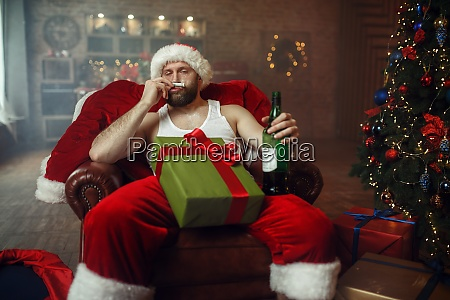 bad santa claus takes drugs with