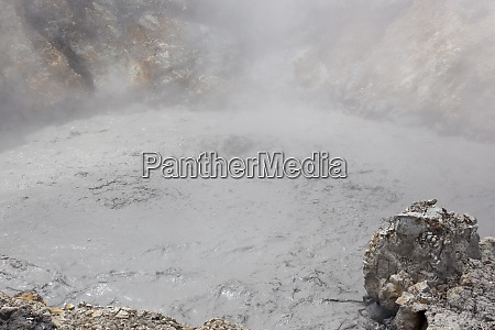 strong geothermal activity with hot boiling
