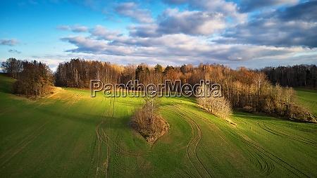 picturesque november landscape rural rolling hills