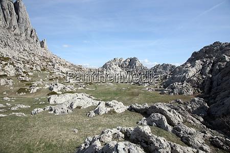 cliff on mountain velebit croatia