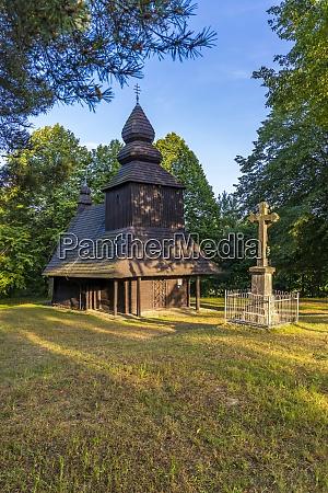 wooden church in ruska bystra slovakia