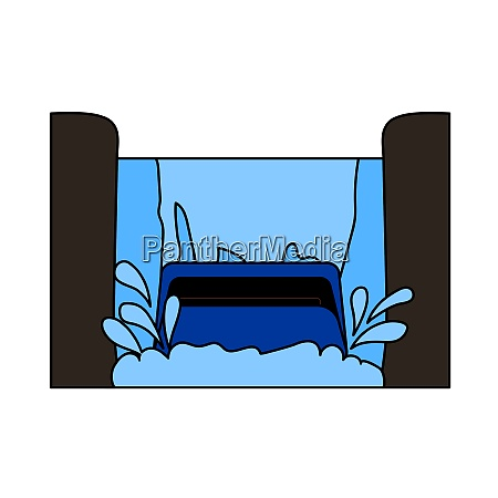 water boat ride icon