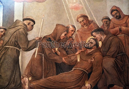death of saint francis of assisi