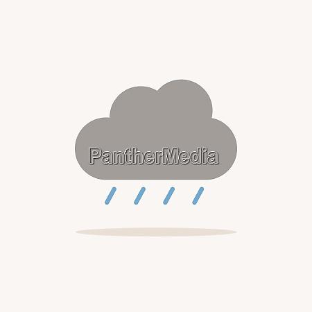 soft rain and cloud color icon