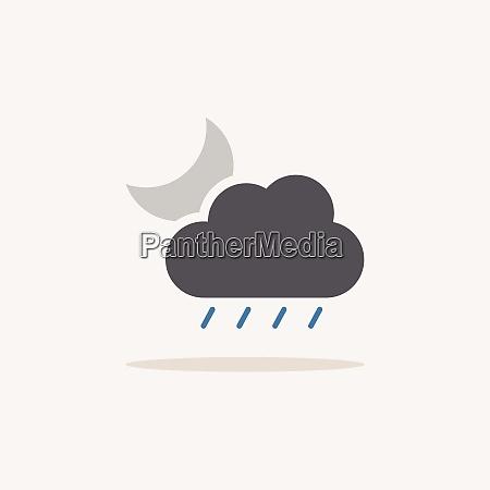 soft rain cloud and moon color