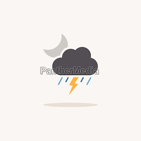 storm heavy rain and moon color
