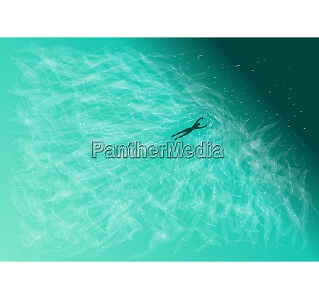 swimming abstract background