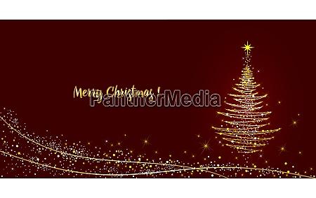 greeting, card, christmas, tree, shining, with - 29026820