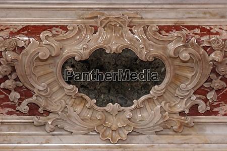 detail of altar