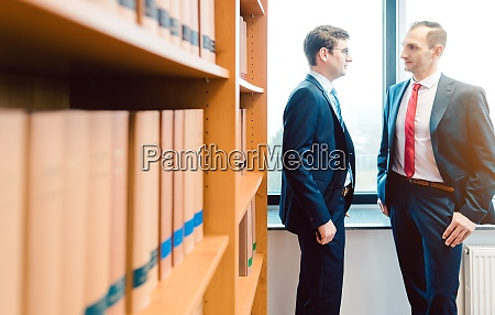 two attorneys discussing very interesting topics