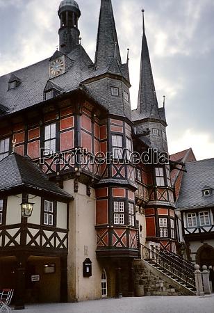 town hall in quedlinburg