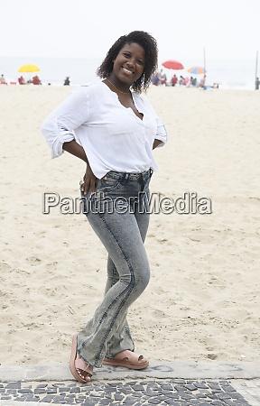 cute brazilian girl on the beach