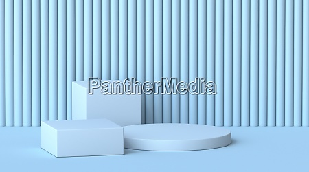 mock up cubes and cylinder podiums