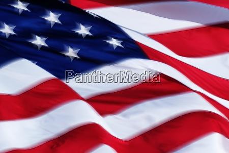 blurred american flag