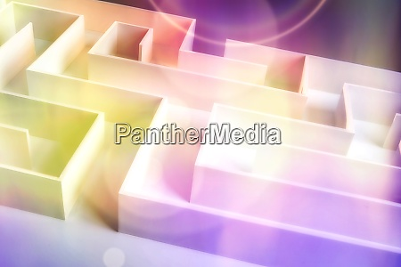 maze with pastel colorful background