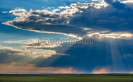 usa south dakota storm clouds at
