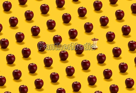 large group of red apples on