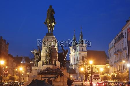 poland lesser poland krakow monument with