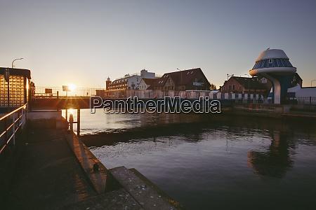 poland west pomerania darlowek lighthouse and