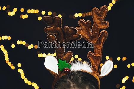 santa claus reindeers horns antlers with