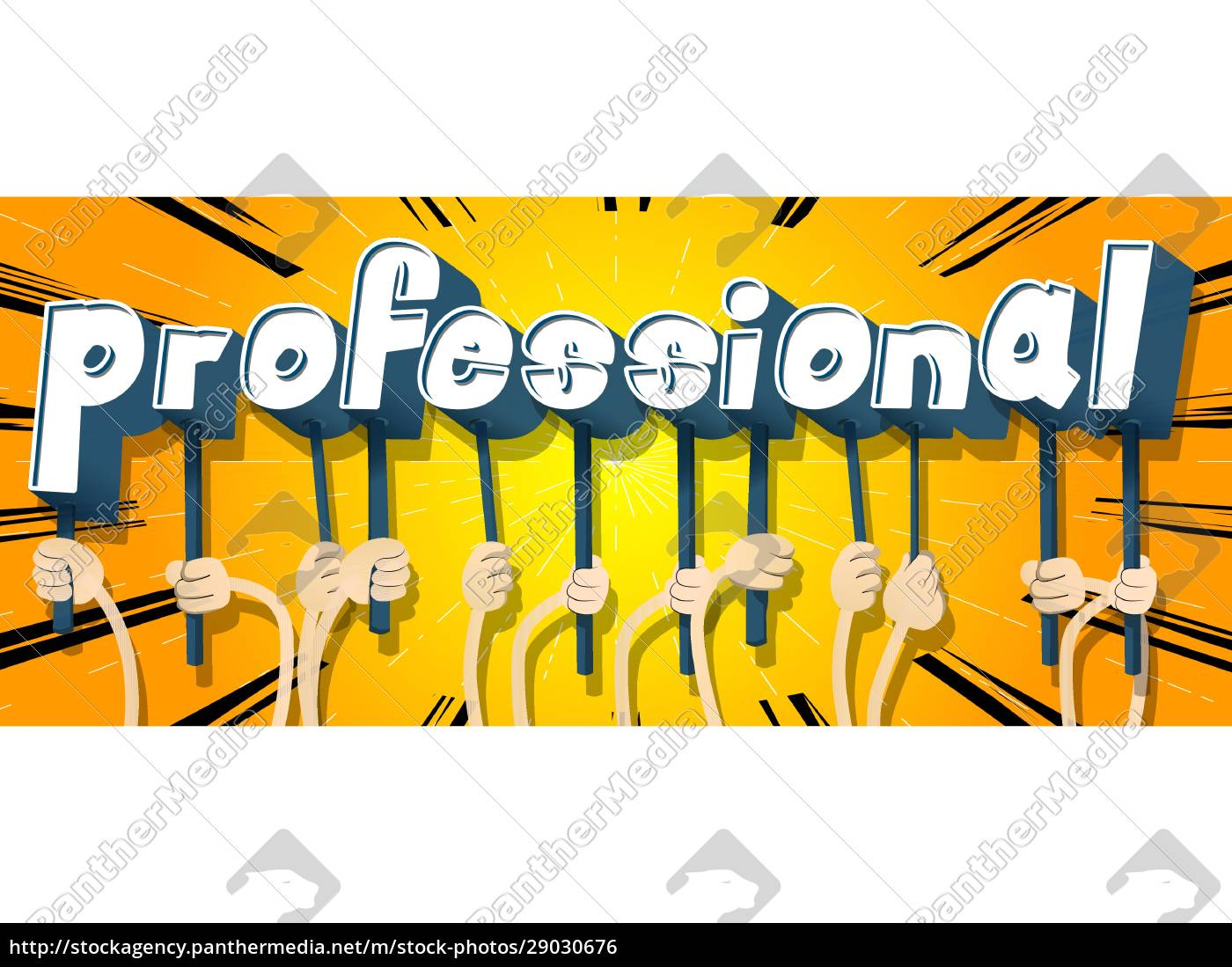 hands, holding, the, word, professional. - 29030676