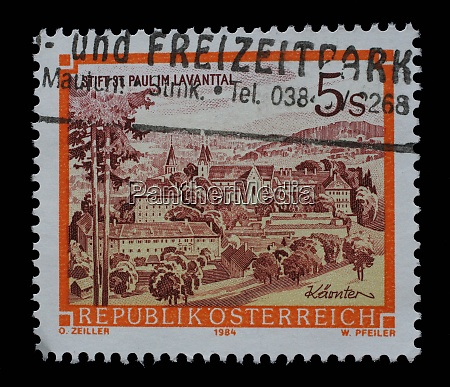 stamp printed in austria shows st