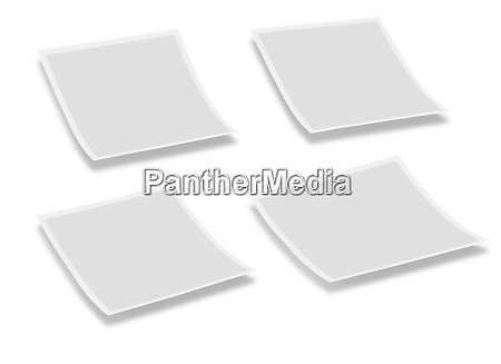 four empty space polaroid plates against