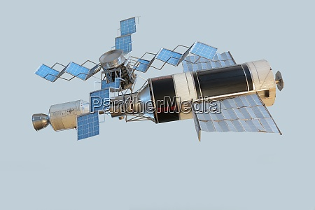 model of orbital space station skylab