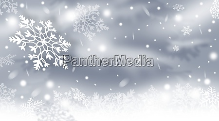 christmas background with snowflakes snowy winter