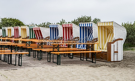 beach chairs in a cafe